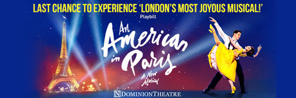 Tickets for An American In Paris-  Dominion Theatre, London