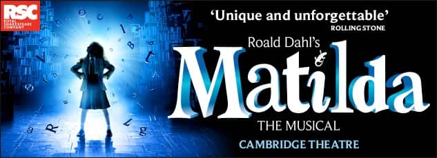 Tickets for Matilda The Musical - Cambridge Theatre, London
